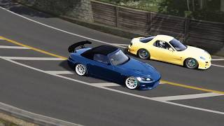 Fight to the Finish! Intense Touge Battle on Usui! - Assetto Corsa