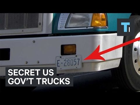 Secret US Gov't trucks