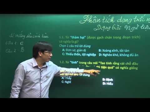 (P1) Phân tích dạng đề đọc - hiểu ngữ liệu - Đánh giá năng lực (văn)