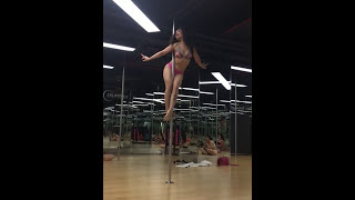 Gangsta - Kehlani (Pole dance fitness amateur by Ms Tra Puma) in California Fitness Center