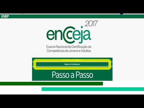 Enem: ENCCEJA 2017 PAGINA DO PARTICIPANTE (ProUni)