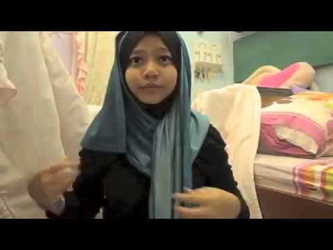 Hijab Tutorial Covering Your chest by dena bahrin