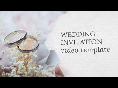 Wedding Invitation Video Template Editable Youtube