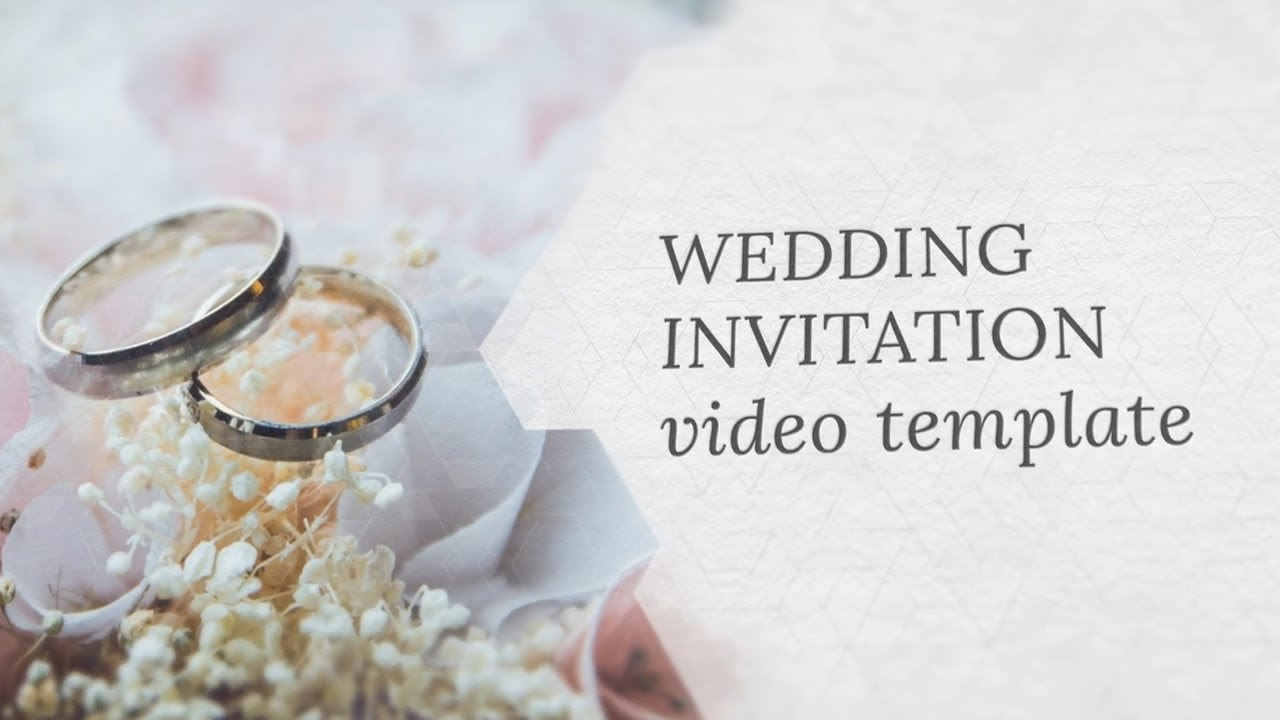 Wedding Invitation Video Template Editable Youtube