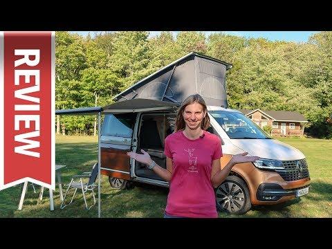 Wir campen im VW T6.1 California: Schlaf-Test, Funktionen & Innenraum-Check