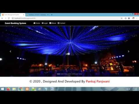 Project Report - Event Management System  |  PHP MYSQLI
