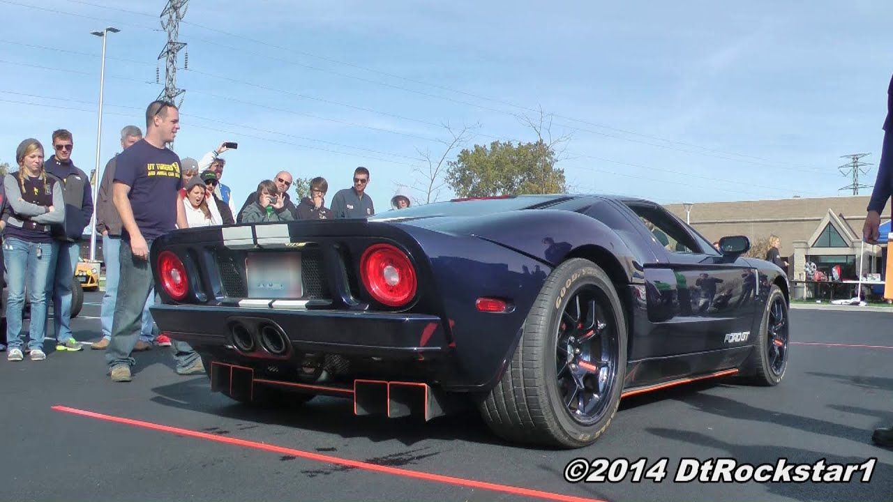 Crowd Chanting Quot Usa Quot To Revving Ford Gt Viyoutube