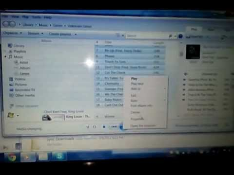 Having trouble with  Windows Media Player won't let me delete music off of it