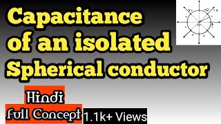 Capacitance of an isolated spherical conductor AS PHYSICS GURU