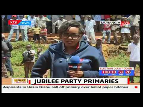 Murang'a county seem to be the among the few counties having nomination exercise running smoothly