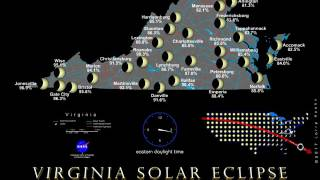 Visualization of the Aug. 21 partial solar eclipse in Virginia