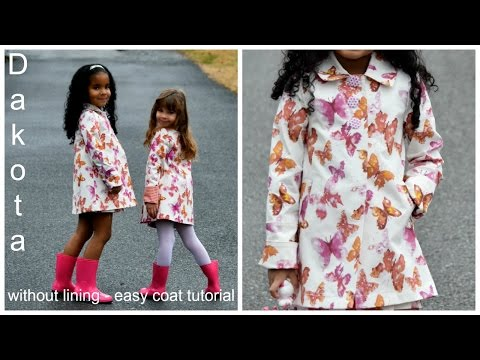 How to sew a coat without Lining - Dakota Sewing Pattern