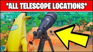 DANCE AT DIFFERENT TELESCOPES IN A SINGLE MATCH *ALL LOCATIONS* (Fortnite Week 8)