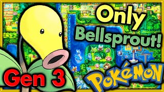 Can I Beat Pokemon Fire Red with ONLY BELLSPROUT? 🔴 Pokemon Challenges ► NO ITEMS IN BATTLE