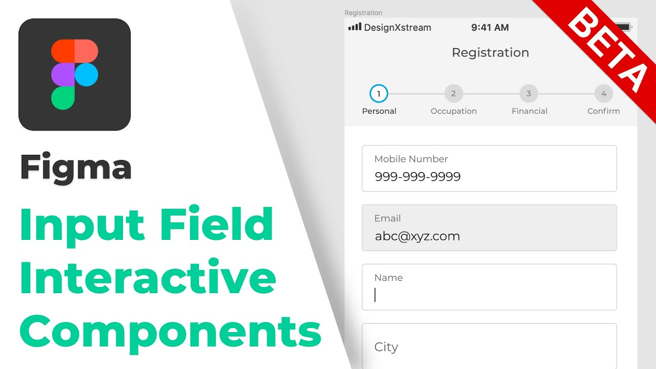 Input Field Interaction using Interactive Components in Figma