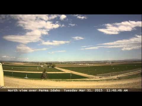 Time-lapse video of the stormy weather over Parma Idaho on 3.31.2015