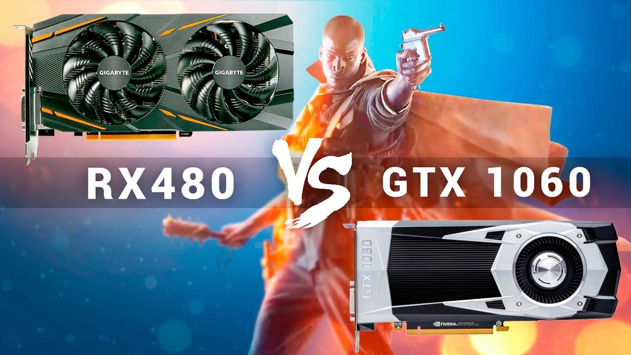 Большое сравнение RX 480 против GTX 1060 в Battlefield 1. DX11, DX12, 4K