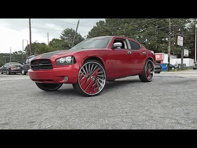 Dodge Charger and Ford Mustang on Dub Wheels Stunt World BBQ