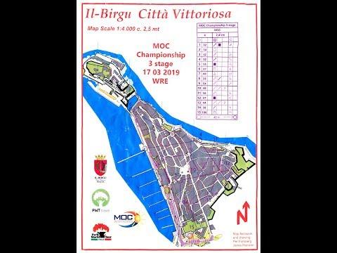MOC 2019 Orienteering Malta Stage 3 Il Birgu, Valletta 17 March 2019