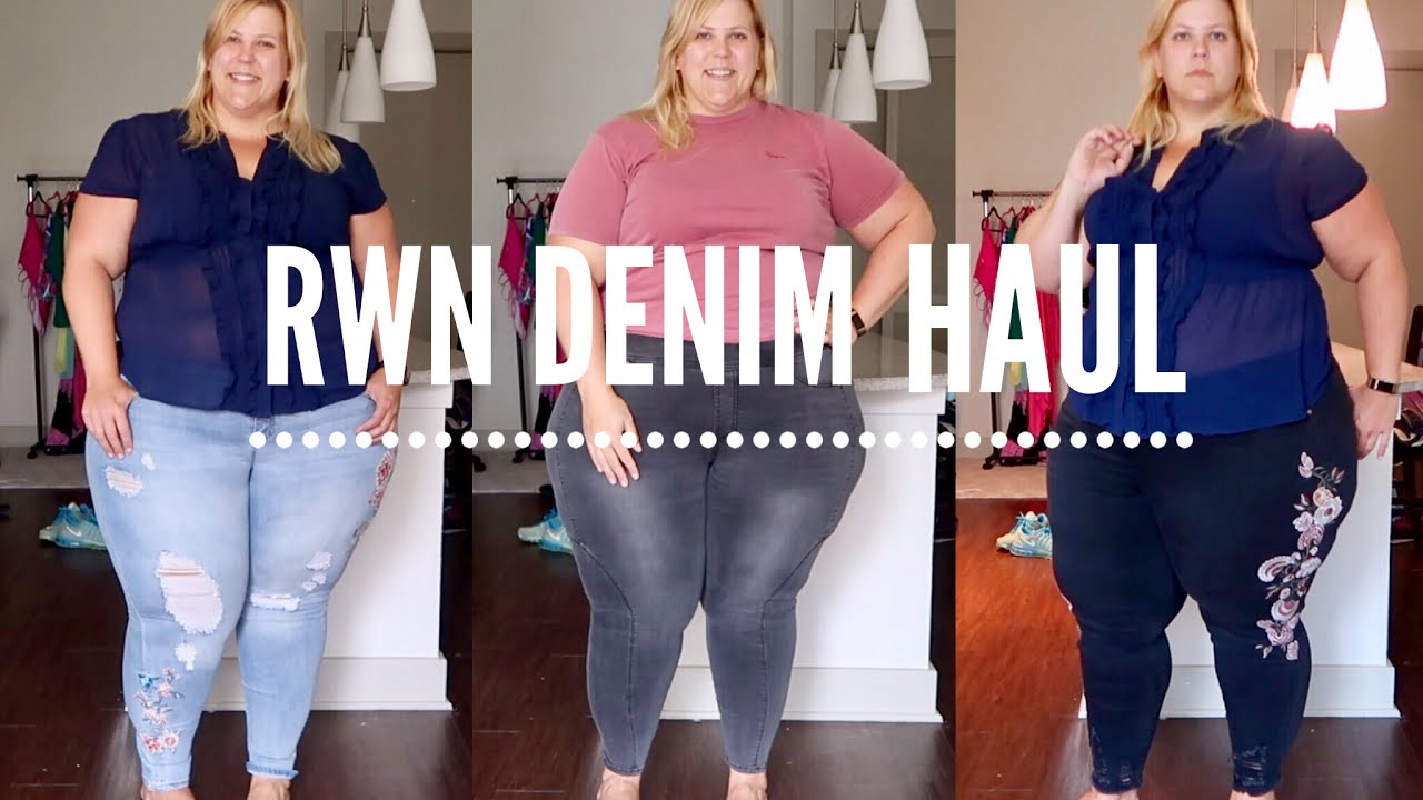 257647f3be8 RWN by Rawan Plus Size Denim  Haul