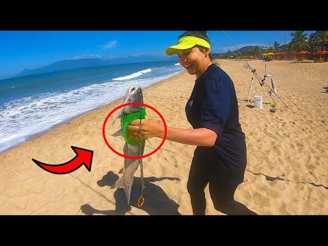 NUNCA MAIS LEVE FERROADA DE PEIXE VENENOSO COM ESSA DICA - Pesca de praia surfcasting