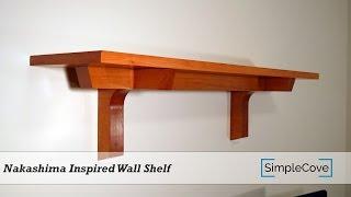 Nakashima Inspired Wall Shelf