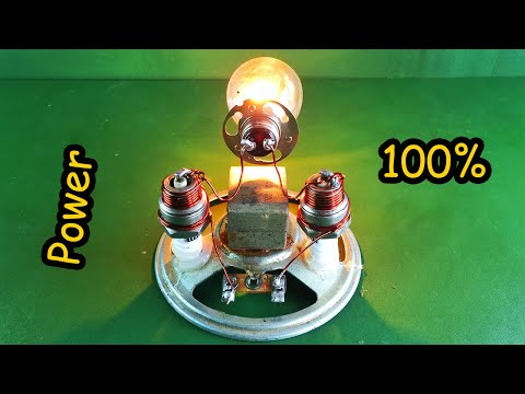 New Technology Generator Free Energy Using Speaker Magnet | Science Experiment at home