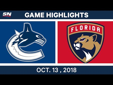 NHL Highlights | Canucks vs. Panthers - Oct. 13, 2018
