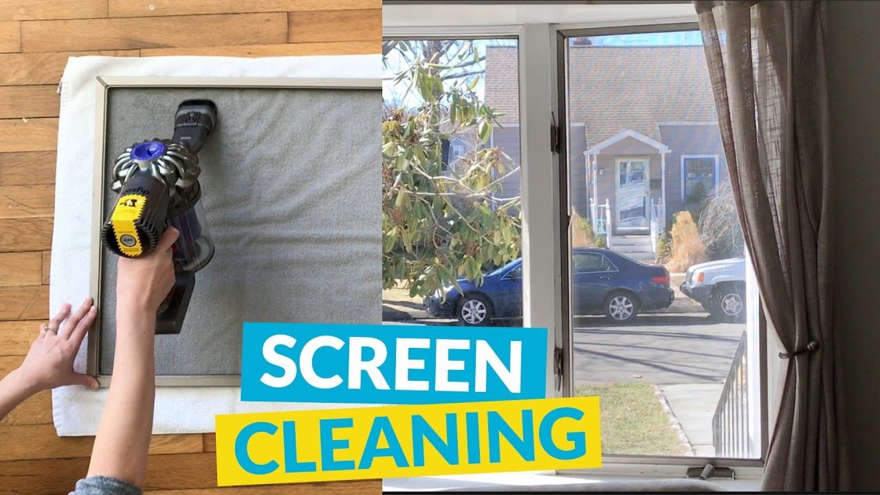 How To Clean Window Screens You