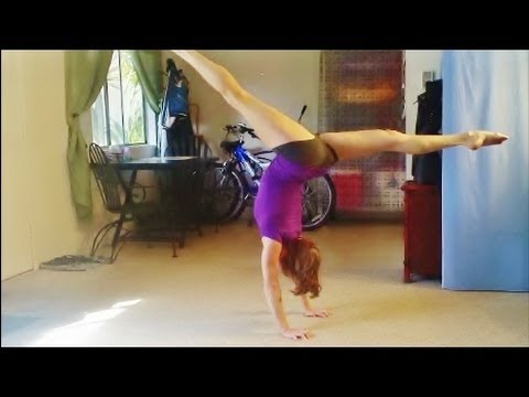how to teach a front walkover