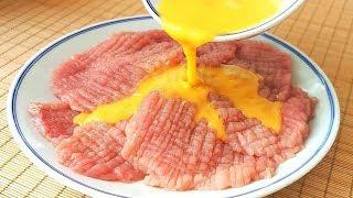 瘦肉这样做,孩子最喜欢,不用炸不用炒,香气四溢,上桌就扫光!【小穎美食】