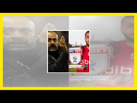 Wolves boss nuno and sheffield united striker leon clarke win sky bet championship november awards