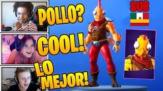 Streamers react to *NEW SKIN* POOL PROTECTOR & BATIDORA + AVECHUCHO ALADO - FORTNITE
