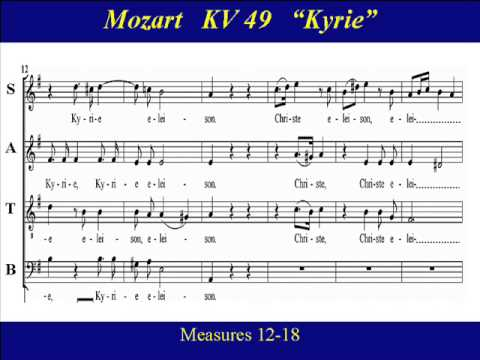 Kyrie kv 49 midi ensayo