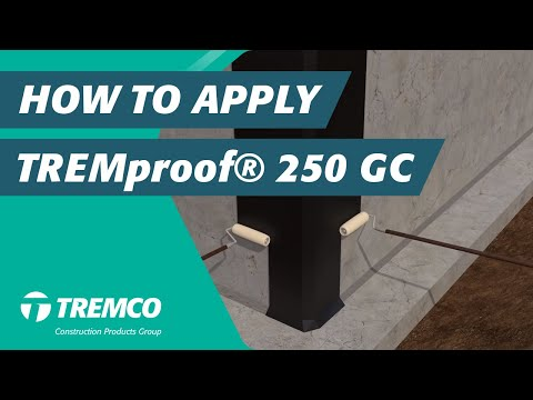 How to Apply TREMproof® 250 GC- Waterproofing Membrane - YouTube