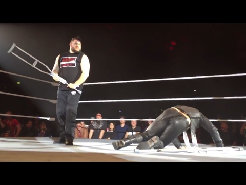Kevin Owens viciously attacks Chris Jericho in Regensburg, Germany: Exclusive, Feb. 25, 2017