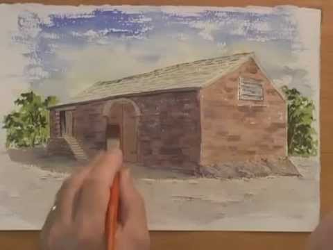 Watercolor Tutorial - Painting a Simple Barn (Part 1)