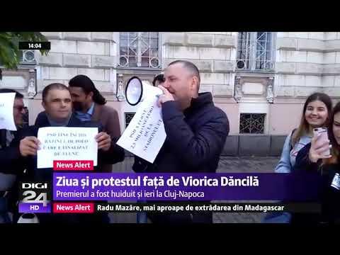 Viorica Dăncilă, huiduită la Arad