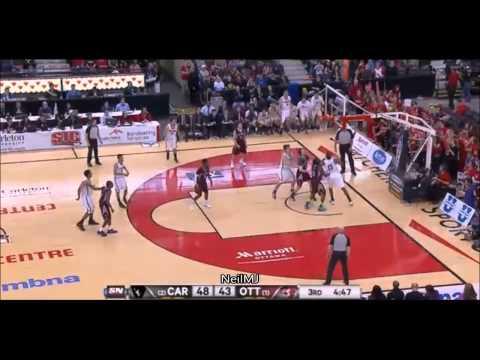 Philip Scrubb Offense vs Ottawa CIS Championship 3/9/2014 - Carleton PG Potential NBA player?