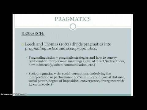 Pragmatics in SLA