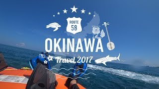 沖縄ウッパマビーチでシュノーケル。初めてフィンをつけた娘にも丁寧に...