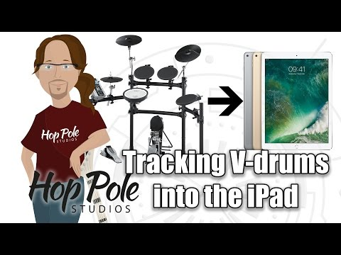 iPad Pro in serious Audio Production Part 14 - Recording V Drums into Auria