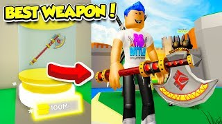 I Found The SECRET ULTIMATE AXE And Bought It For $100,000,000 in MONSTER SIMULATOR!! (Roblox)