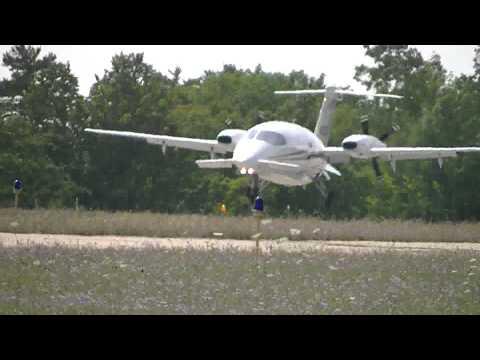 Avantair Piaggio P180 Avanti landing at Harbor Springs Airport [N153SL] HD *1080p*