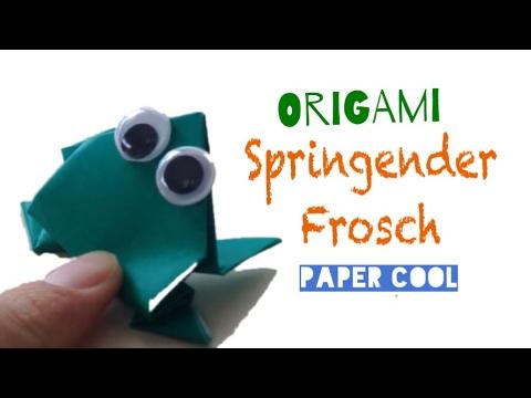Origami: Springender Frosch basteln aus papier /  Basteln mit Kindern - ★DIY★ Paper Cool