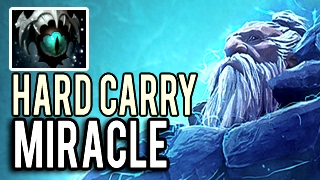 Lone Druid HARD CARRY! FULL ITEM IMBA without Bear by Miracle 9148 MMR 7.02 Dota 2