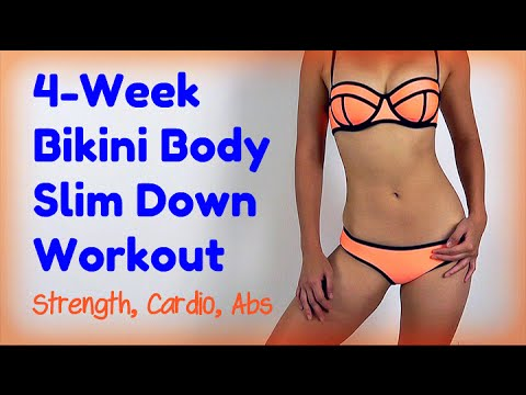 4-Week Bikini Body Slim Down (No equipment!)