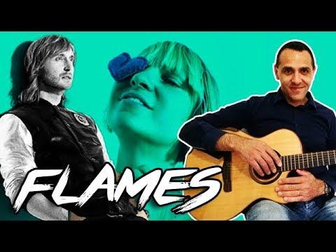 David Guetta & Sia - Flames - Easy Guitar Lesson - Chords