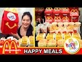 McDonald's Happy Meals Challenge!! (5000 Subscribers Celebration) Peggie Eats
