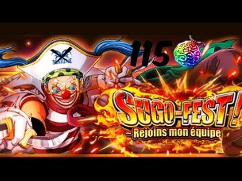 SUGOFEST BAGGY 115 GEMMES  pas terrible : ( One Piece Treasure Cruise  FR